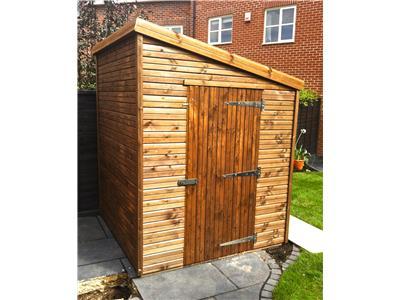 6x6 Pent-D Beast wood Garden shed