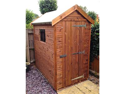 6x4 Apex Tanalised wood Security shed