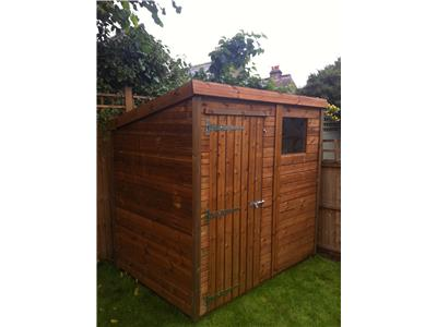13x9 Apex Tanalised wood Garden shed