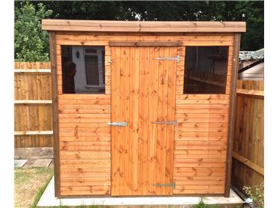 7x5 Pent-C Standard wood Garden shed