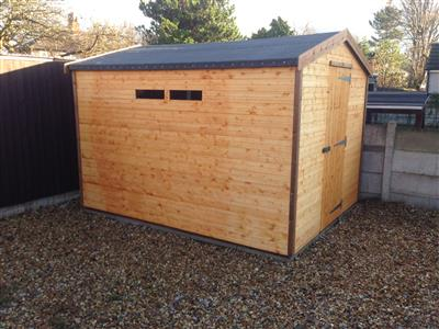 10x8 Apex Standard wood Security shed