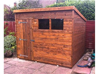 9x7 Pent-A Tanalised wood Garden shed