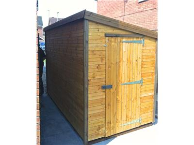10x5 Pent-G Standard wood Security shed