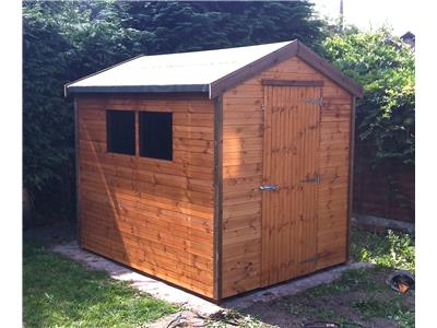 8x6 Apex Standard wood Garden shed