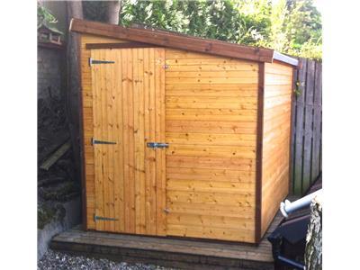 8x6 Pent-D Standard wood Garden shed