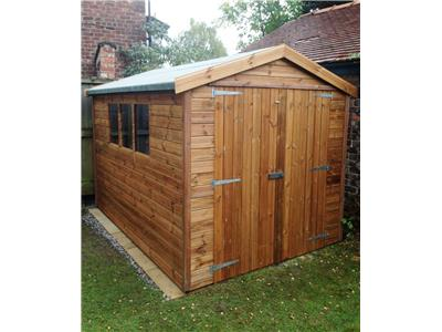 10x7 Apex Tanalised wood Garden shed