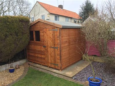 8x8 S3 Beast wood Garden shed