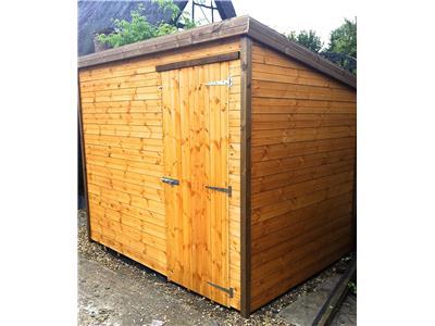 8x6 Pent-B Standard wood Garden shed