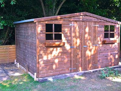 12x10 S1 Tanalised wood Garden shed