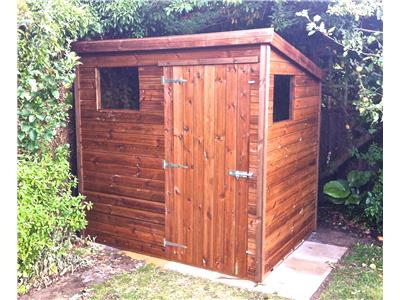 7x5 Pent-B Tanalised wood Garden shed