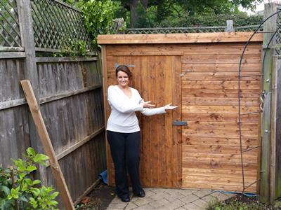 6x4 Pent-A Tanalised wood Garden shed