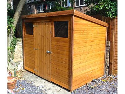 8x6 Pent-C Standard wood Garden shed
