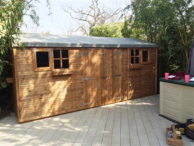 17x7 HiPex-C Beast wood Garden shed