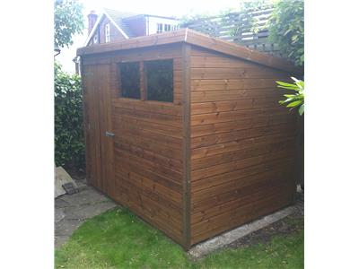 8x6 Pent-A Tanalised wood Garden shed
