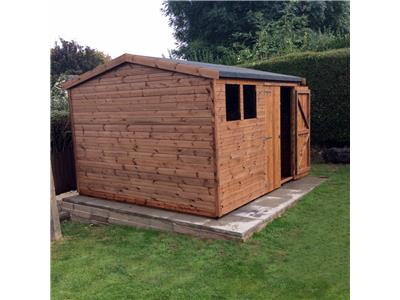 10x10 HiPex-B Tanalised wood Garden shed
