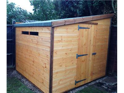 8x8 Pent-F Standard wood Security shed