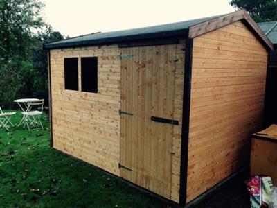10x8 HiPex-B Standard wood Garden shed