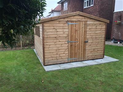 12x10 Apex Beast wood Garden shed