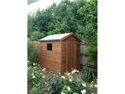 7x5 Apex Tanalised wood Garden shed