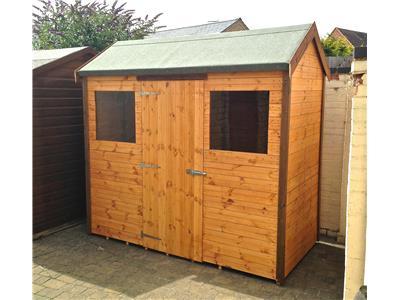 8x4 HiPex-C Standard wood Garden shed