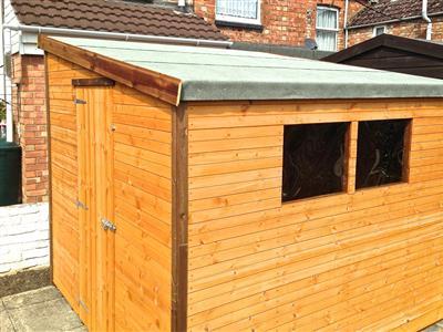 8x8 Pent-G Standard wood Garden shed