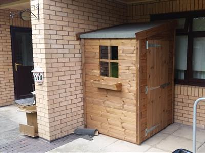 4x4 Pent-F Tanalised wood Security shed
