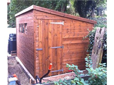 12x8 Pent-D Tanalised wood Security shed