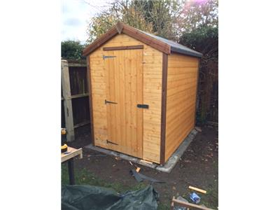12x4 Apex Standard wood Garden shed