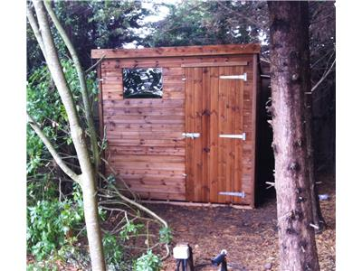 7x7 Pent-B Tanalised wood Garden shed