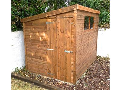 8x6 Pent-E Tanalised wood Garden shed