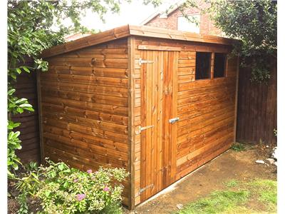 10x6 Pent-A Tanalised wood Garden shed