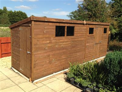 16x5 Pent-E Tanalised wood Garden shed