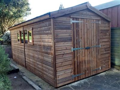 16x8 Apex Beast wood Garden shed