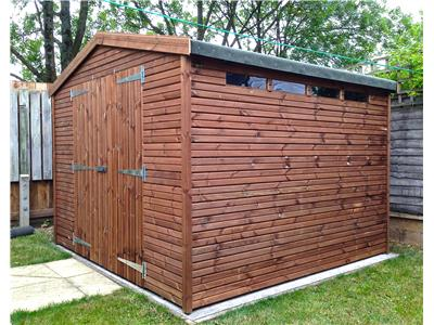 9x9 Apex Beast wood Garden shed