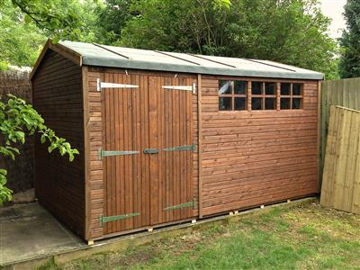 13x8 HiPex-C Beast wood Garden shed