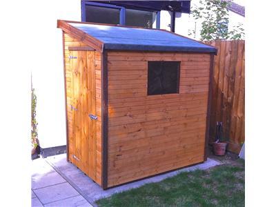 6x4 Pent-G Standard wood Garden shed