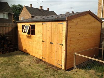 14x10 HiPex-B Standard wood Garden shed