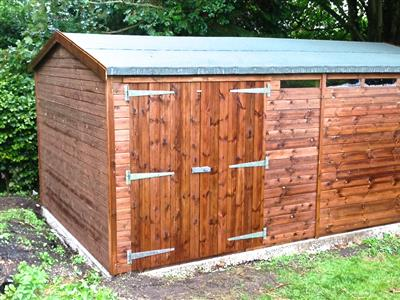16x10 HiPex-A Tanalised wood Garden shed