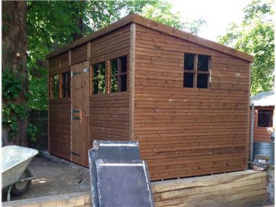 12x8 Pent-C Beast wood Garden shed