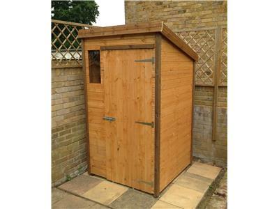 4x4 Pent-B Standard wood Garden shed