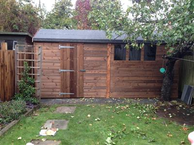 16x5 HiPex-A Beast wood Garden shed