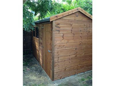 10x6 HiPex-B Tanalised wood Garden shed