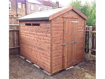 8x6 Apex Tanalised wood Security shed