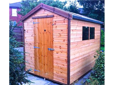 9x7 Apex Tanalised wood Garden shed