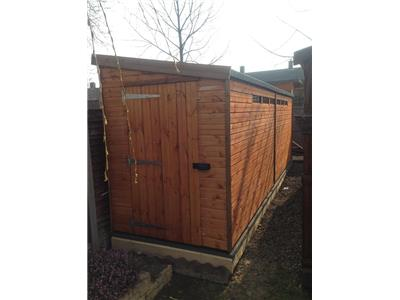 18x5 Pent-E Standard wood Security shed