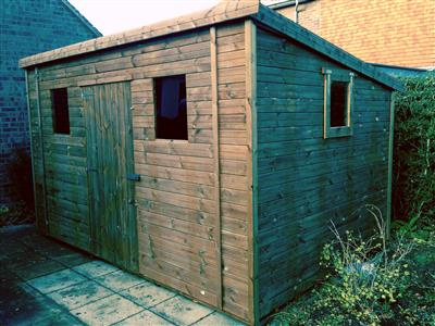 12x8 HiPex-C Tanalised wood Garden shed