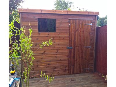8x4 Pent-B Tanalised wood Garden shed