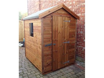 6x5 Apex Tanalised wood Garden shed