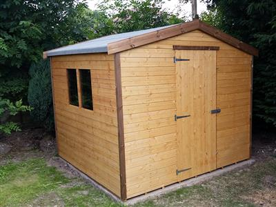 8x8 Apex Standard wood Garden shed
