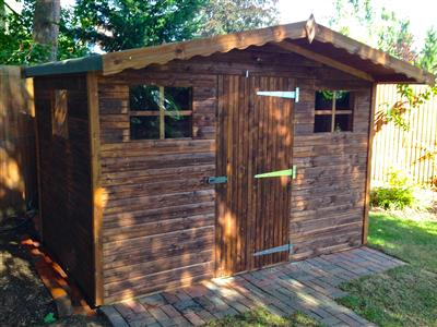 8x6 S1 Tanalised wood Garden shed